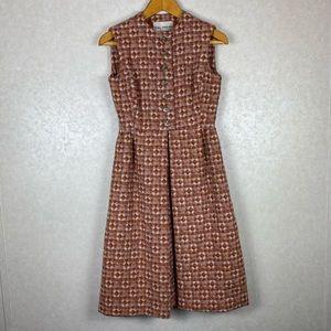 Vintage Teal Tirana New York Designer ILGWU Dress
